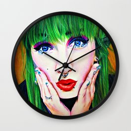 Set on fire Wall Clock
