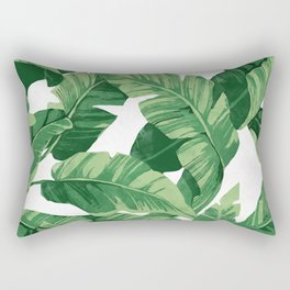 Tropical banana leaves IV Rectangular Pillow