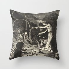 Witch - 17th Century Illustration Throw Pillow