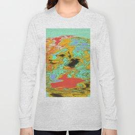Topographic Planet-mash Long Sleeve T-shirt