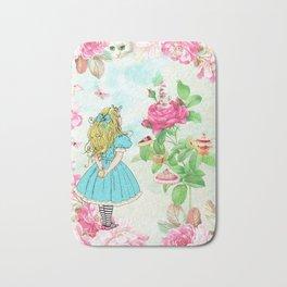 Alice in Wonderland tea party Bath Mat