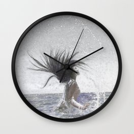 Feeling The Energy Of The Sea Sketch Wall Clock