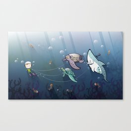 Looking for new friends Canvas Print