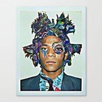 basquiat Canvas Prints featuring Basquiat by Katy Hirschfeld