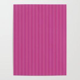 Pink stripes pattern Poster