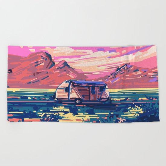 american landscape 5 Beach Towel