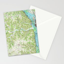 WI La Crosse 803109 1990 topographic map Stationery Cards