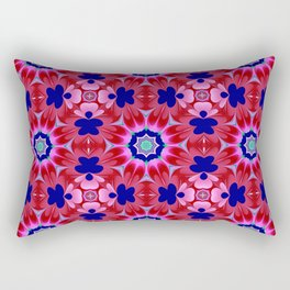 Floral fantasy pattern design Rectangular Pillow