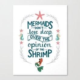 Let Mermaids Merm Canvas Print