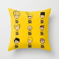 Toupeé-nuts Throw Pillow