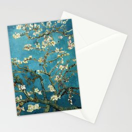 Blossoming Almond Trees, Vincent van Gogh. Famous vintage fine art. Stationery Cards
