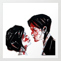 my chemical romance Art Prints featuring My Chemical Romance by andiechrist