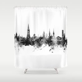 Freiburg Germany Skyline Shower Curtain