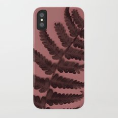 Fern on marsala iPhone X Slim Case