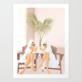 Morning with a friend III Art Print