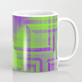 Diagonal pattern of dawn squares on mirrored triangles from a reflective pyramid.  Coffee Mug