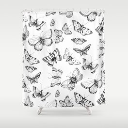 Butterflies and moths Shower Curtain