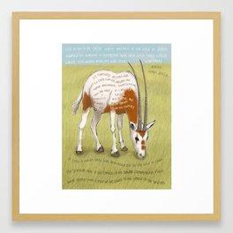 Scimitar Oryx Framed Art Print