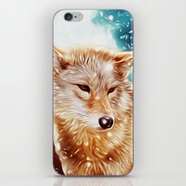 Lovely Wolf Couple Under the Snow iPhone Skin