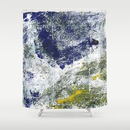 Blue-green abstract Shower Curtain