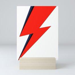 Red Bowie David Lightning Bolt Mini Art Print