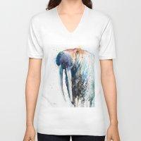 walrus V-neck T-shirts featuring Walrus by Slaveika Aladjova