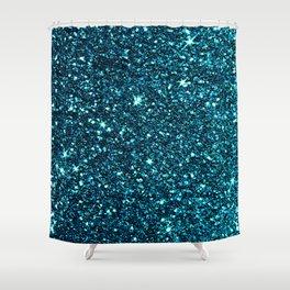 midnight blue sparkle Shower Curtain