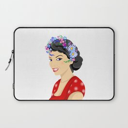 Beautiful woman with wreath Laptop Sleeve