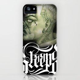 SLEEPS CLOWN iPhone Case