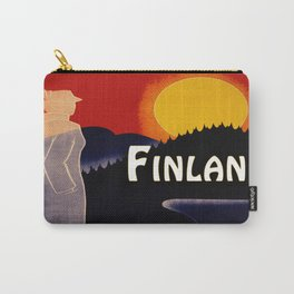 Vintage Finland Travel Carry-All Pouch