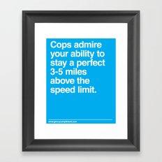 Speed Limit Framed Art Print