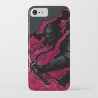 ninja iPhone & iPod Cases featuring Ninja by pigboom el crapo