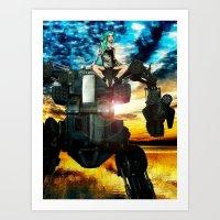 heavy metal Art Prints featuring Heavy Metal by Danielle Tanimura