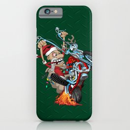 Biker Santa iPhone Case
