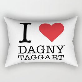 I Heart Dagny Taggart Rectangular Pillow