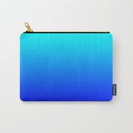Aqua Blue Bright Ombre Carry-All Pouch