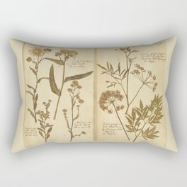 PRESSED FLOWERS Rectangular Pillow