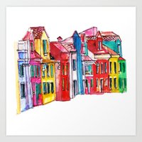 italy Art Prints featuring Italy by Dheiuk