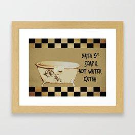 Bath 5 cents Bathroom Art Framed Art Print