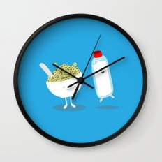 Cereal & Milk  Wall Clock