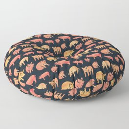 Fancy Rosegold Piggies Floor Pillow