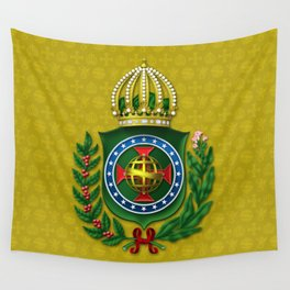 Dom Pedro II Coat of Arms Wall Tapestry