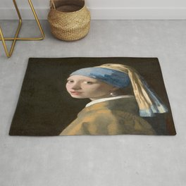 Girl with a Pearl Earring (1665), Old Masters Collection Rug
