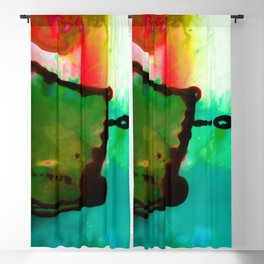 Abstract Bliss 4G by Kathy Morton Stanion Blackout Curtain