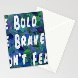 Be Bold in Blue Stationery Cards
