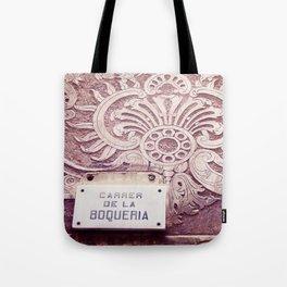 Carrer de la Boqueria Color Tote Bag