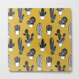 CACTI Mustard Metal Print