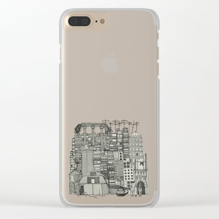 dystopian toile mono Clear iPhone Case