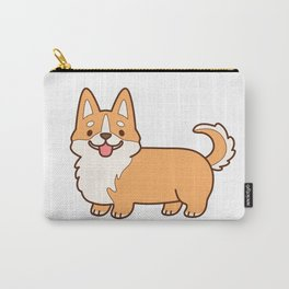 Keep calm and corgi on - red Carry-All Pouch