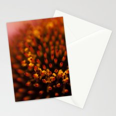 Red Petals with Pollen Stationery Cards